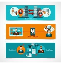 Online Education Banner Set vector image