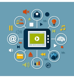 Online of media vector image vector image