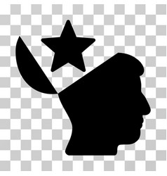 open head star icon vector image
