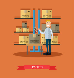 Packer in flat style vector