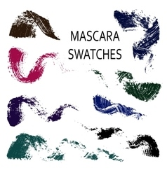 Set of 8 flat mascara swatches vector image