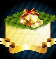Shiny merry christmas bel vector
