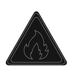 sign of flammabilityoil single icon in black vector image