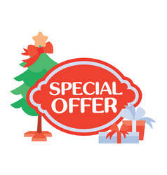 special offer sticker for christmas sale vector image vector image