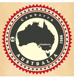 Vintage label-sticker cards of Australia vector image