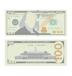 100 dollars banknote cartoon us urrency vector image