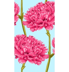 Seamless background with pink carnation vector