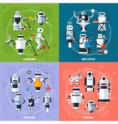 Smart robots concept vector