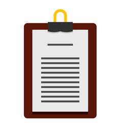 Medical order clipboard icon isolated vector