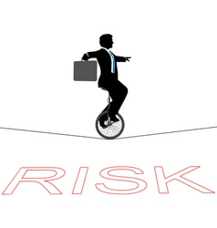business man rides a unicycle vector image
