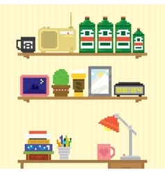 Teenager room workplace vector
