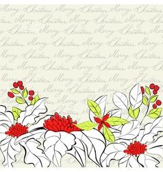 retro stylized christmas card vector image