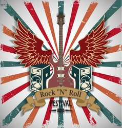 Symbol of rock festival vector