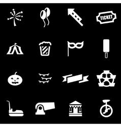 white carnival icon set vector image