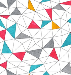 abstract color triangle seamless pattern with vector image vector image
