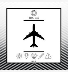 Airplane icon symbol vector
