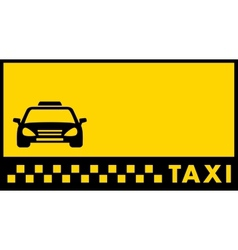 backdrop for taxi visiting card vector image vector image