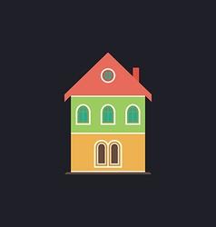building computer symbol vector image vector image