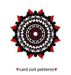 Card suit conceptual ornament vector image