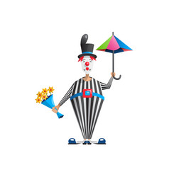 Cartoon clown actor vector