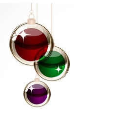 Christmas transparent balls vector image vector image