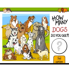 counting game with dogs vector image vector image