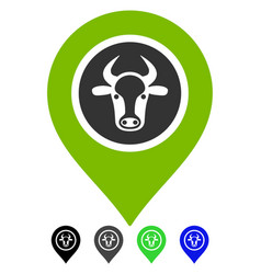 Cow marker flat icon vector
