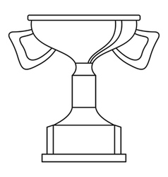 Cup for victory icon outline style vector