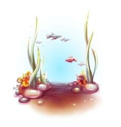Decorative corals and vector