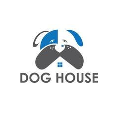 Dog house design template vector