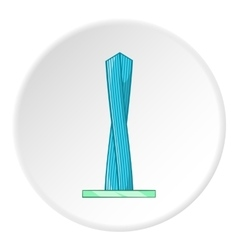 Emirates tower icon cartoon style vector image vector image