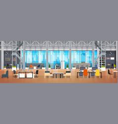 Empty coworking space interior modern coworking vector