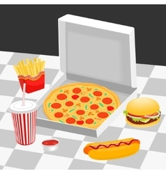 Fast food on the table vector image