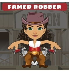 Fictional cartoon character - famed robber vector image