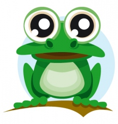 frog with big eyes vector image vector image