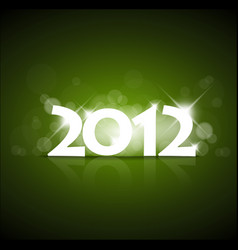 green new year card 2012 vector image