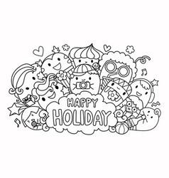 happy holiday vector image vector image