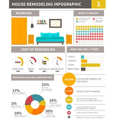 Infographic about remodeling home - file organized vector