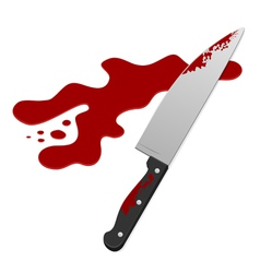 knife with blood vector image vector image
