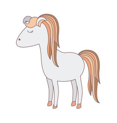 Light colors of cartoon female horse with colorful vector