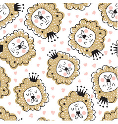 lion pattern vector image vector image