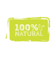 logo natural with leaves natural product organic vector image