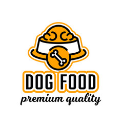 logo on the theme of food for dogs bowl full of vector image