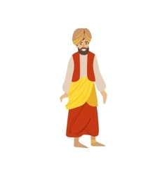 Man wearing national indian costume vector
