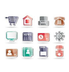 office and website icons vector image vector image
