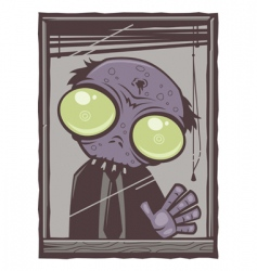 office zombie cartoon vector image vector image