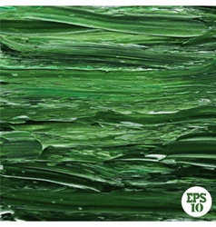 Oil painted green background vector