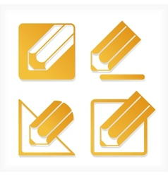 Pencil icons set vector image vector image