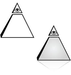 Pyramid with eye vector image vector image