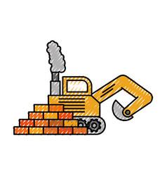 truck bulldozer machinery equipment construction vector image vector image